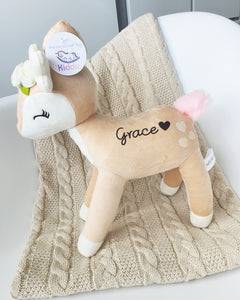 Plush Toy Deer with flower wreath from Kiddio