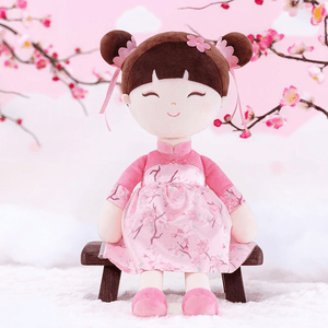 Chineese Style Gloveleya Doll in pink dress