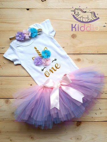 1st Birthday Tutu Dress Set freeshipping - Kiddio