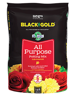 Black Gold All Purpose Potting Soil - Multiple Sizes
