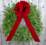 "Wreath With Bow - 12"" ring (24"" Outside Diameter) - Multiple Styles"