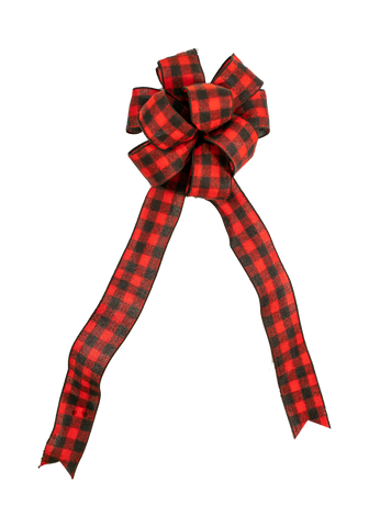 "Buffalo Plaid Handmade Bow #40 (2.5"" W)"