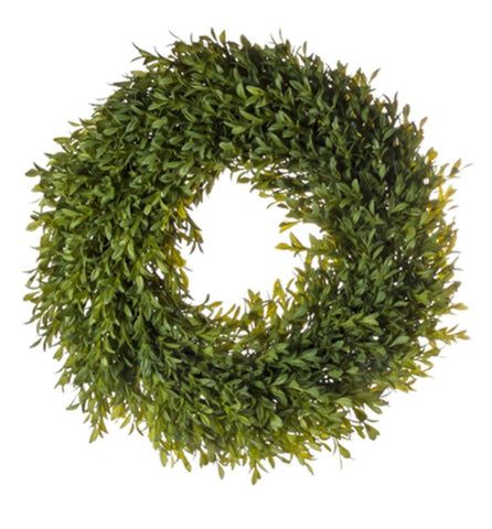 "Artificial Boxwood 18"" Wreath"