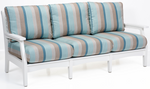 Berlin Gardens Classic Terrace Sofa - White Frame with Fabric 'A' Cushions