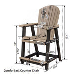 Berlin Gardens Comfo Back Dining Chair - Counter Height