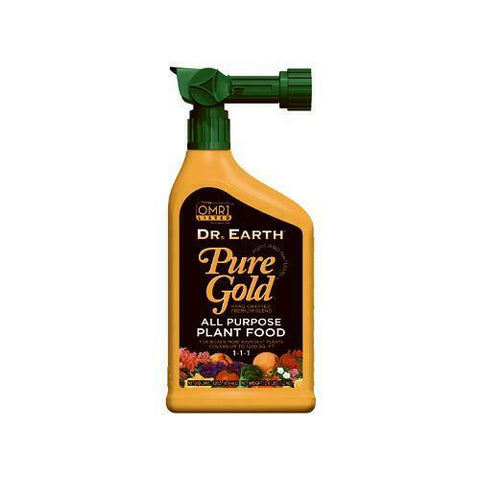 Dr. Earth Pure Gold All Purpose Plant Food - 32oz hose-end spray bottle