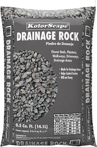 Drainage Rock - 0.5 cu ft bag