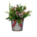 Holiday Centerpiece Tin 6 in - Multiple Styles