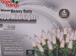 Ultimate Heavy Duty LiteLock Lights - 100 Mini Clear Lights with Green Wire