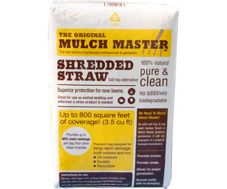 Mulch Master Shredded Straw - 3.5 cu ft bag