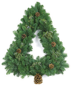 Holiday Tree Wreath - Plain