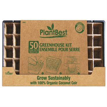 Plantbest Coconut Coir 50-pot Greenhouse Kit