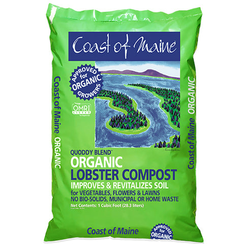 Quoddy Blend Lobster Compost - 1 cu ft bag