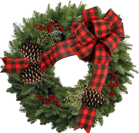 "Decorated Western Wreath - 12"" ring (24"" Outside Diameter)"
