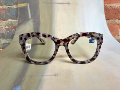 Village Vogue Peepers Center Stage Grey Tortoise Readers