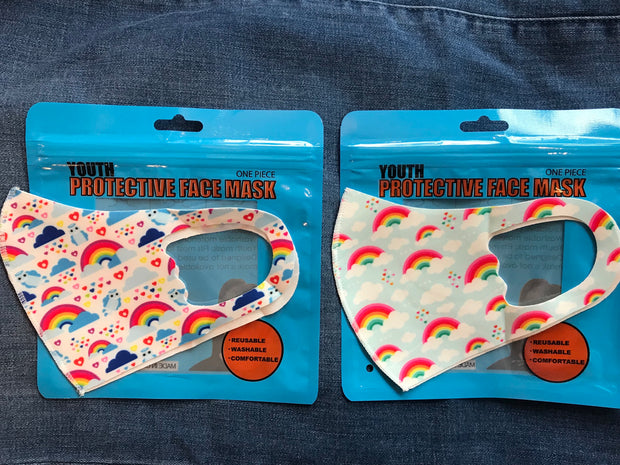 3D Rainbow Print Face Mask