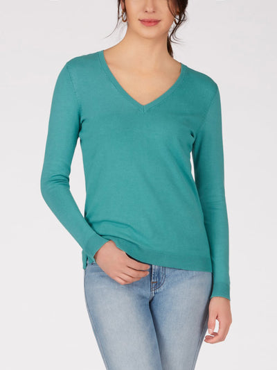 525 America V-Neck Sweater Teal
