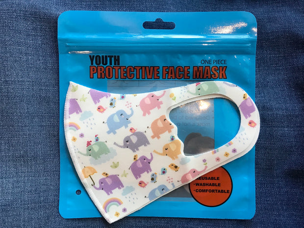 3D Kids Elephant Print Face Mask