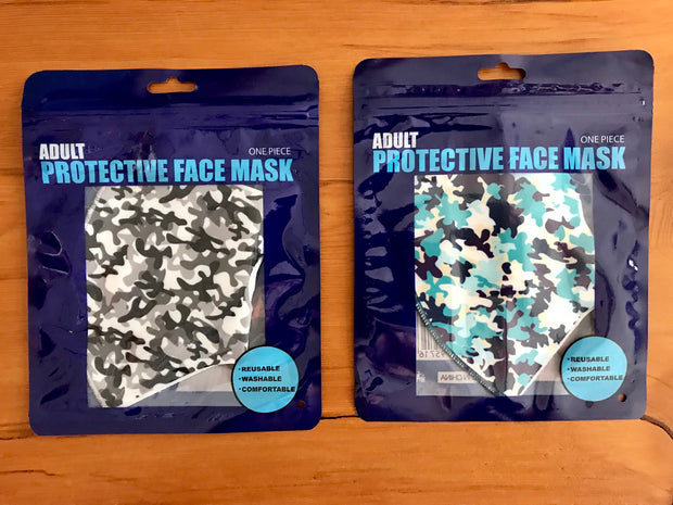 3D Washable Camo Print Face Masks