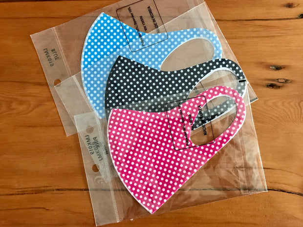 3D Washable Two Color Print Face Masks