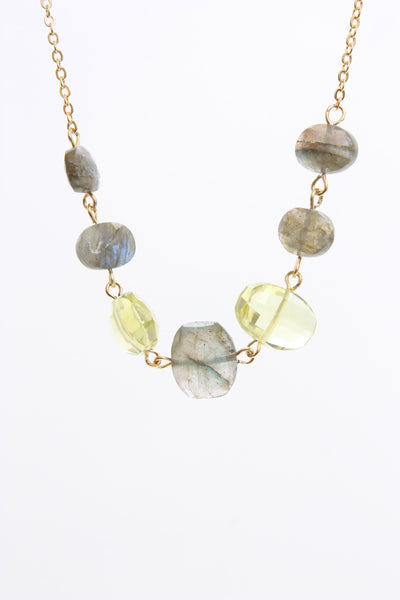 AV Max Semi Precious Stacked Necklace