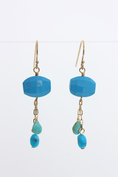 Village Vogue semi precious turquoise dangle earring