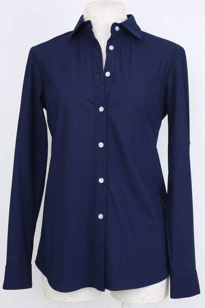 Village Vogue Ameliora Button Front Shirt Navy