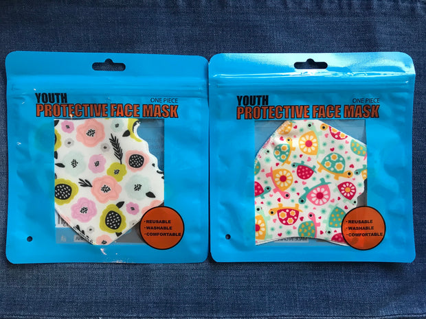 3D Kids Floral Print Face Mask