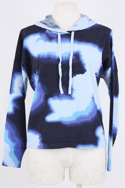 Fogg, Hombre Print Hoodie, long sleeves with tie neck.