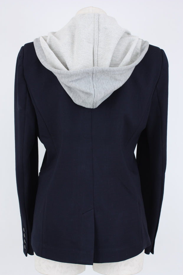 Central Park West Hooded Blazer Jacket