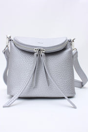 Colab Pebble Small Crossbody Bag Silver