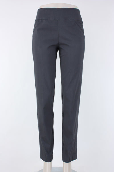 Elliott Lauren Control Stretch Pull-on Ankle Pant in gunmetal, Village Vogue.