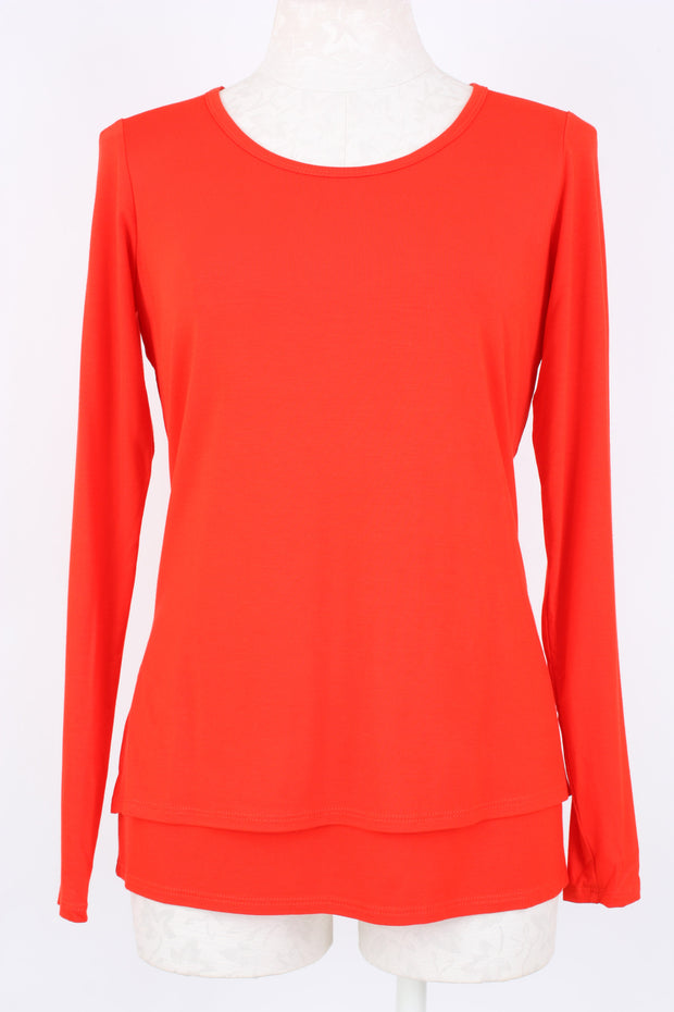 Elliott Lauren Scoop Neck Double Layer Top