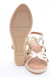 Eric Michael Lindsey Wedge Sandal Cosmos Gold