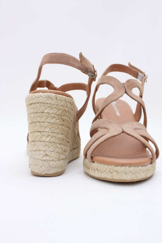 Eric Michael Lindsey Wedge Sandal Sued taupe