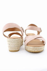 Village Vogue Eric Michael Ashley sandal Nude wedge