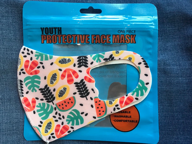 3D Kids Fruit Print Face Mask