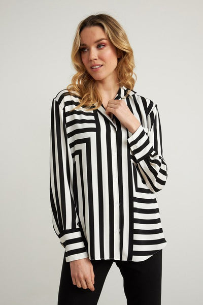 Joseph Ribkoff Stripe Top Style 211025 at Village Vogue