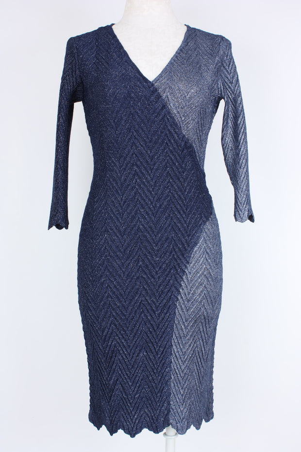 Komarov 3/4 Sleeve Lurex dress