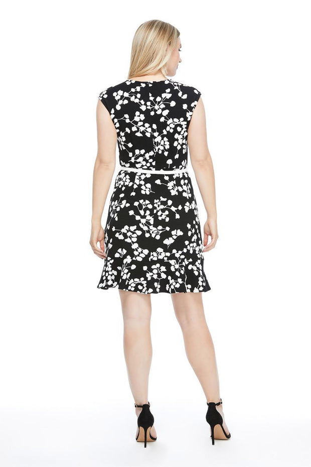 London Times Edna Ruffle Dress