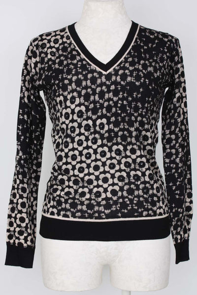 Metric Knits Embroidered Print Sweater, Village Vogue.