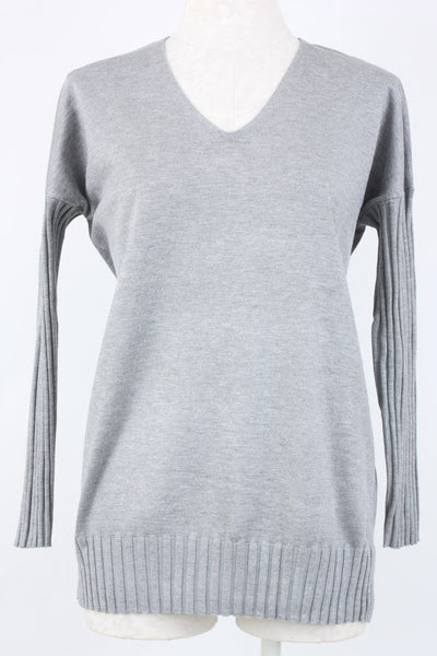 Metric Knits Ribbed Sleeve Sweater. Village Vogue