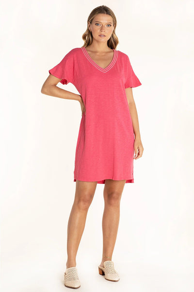 Mododoc Drop Sleeve Shift Dress in Punch is available at Village Vogue.