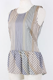Symphony + Note Stripe Silk Top