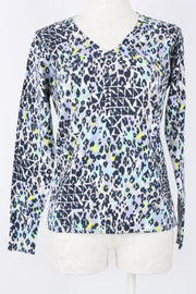 Elliott Lauren Printed V-neck Sweater