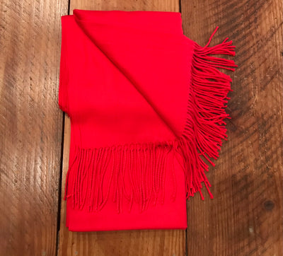Village Vogue 100% Cashmere Scarf in Scarlet