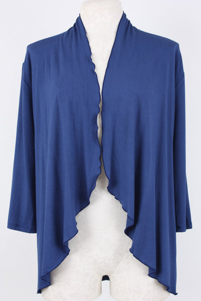 Open Front Cardigan in Twilight Blue Village Vogue