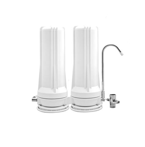 CT-2K Dual Cartridge Countertop Water Filtration System (White)