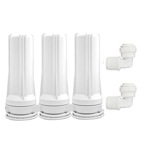 CT-3K Triple Cartridge Countertop Water Filtration System (White)
