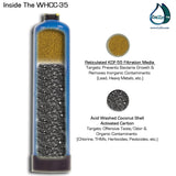 WHCC-35 Wide Spectrum Whole House Water Filter & Salt Free Water Softener